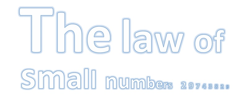 Law of small numbers illustration for blog